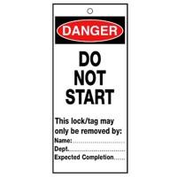 Poly Tag Danger Do Not Start 75mm
