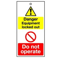 Lockout Tag Danger Equipment Locked