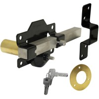A Perry Single Locking Long Throw Gate Lock 70mm