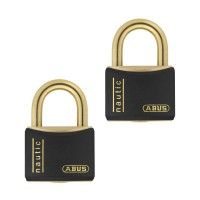 Abus T84MB/40mm Black Rustproof Twin pack