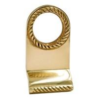 TSS Georgian Rim Cylinder Door Pull Polished Brass