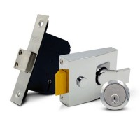TSS Front Door Lock Combo NL60 MDL25 Chrome