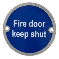 TSS Fire Door Keep Shut Sign Face Fix