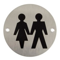 TSS Unisex Bathroom Sign Face Fix