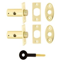 TSS Window Bolt x 2 With Key Polished Brass