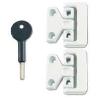 8K106 Window Latch White Pack 2