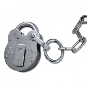 Walsall Fire Brigade Padlock FB1 Galv with Chain