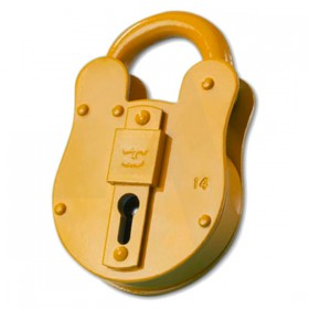 Walsall Fire Brigade Padlock FB14 Yellow Only